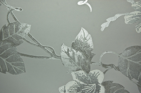 veneer: silver shade flower textile wall cover pattern Stock Photo