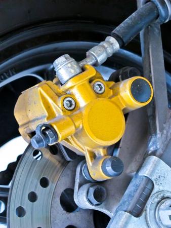 old yellow color discbrake motocycle Stock Photo - 18756110