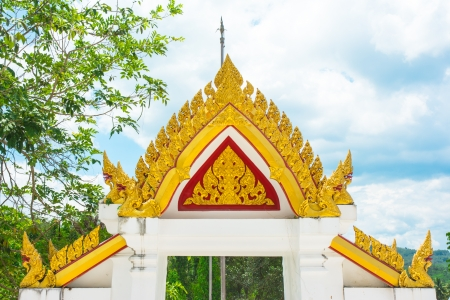 architrave: architrave of asia temple thailand on natural backgrounds