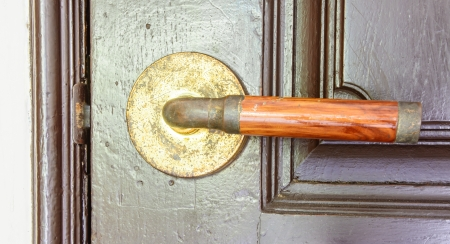 abstract old wood handle door home photo