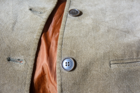 bottons: old shirt brown velvet and two button