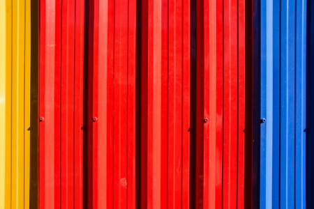three colourful galvanized steel wall pattern detail photo