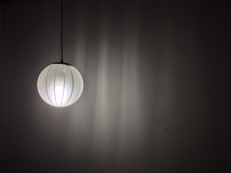 drop ceiling: Old general circle ceiling lamp light with drop shadow