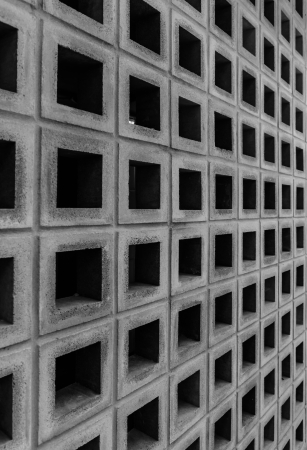 concrete cubes block wall pattern photo