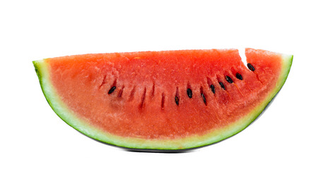 red color watermelon isolated on white background photo