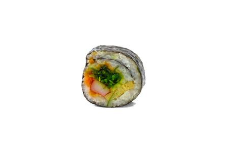single sushi food with isolated on white background photo