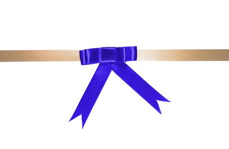 decoration color ribbon isolated on white background photo