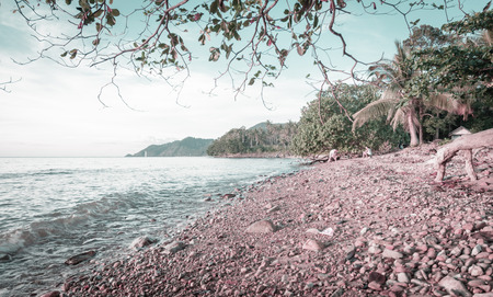 natural sea scape summer of koh chang Islands in Thailand with retro filter photo