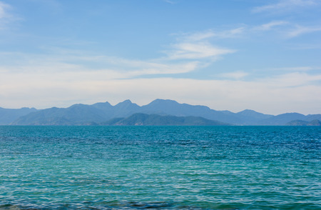 sea scape: view sea scape natural and mountain range