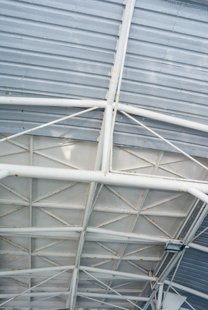 metal structure: old metal roof structure pattern detail