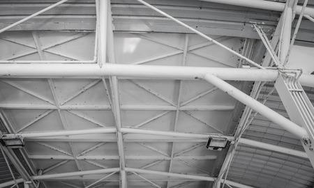 alte Metall-Dachstruktur Muster Detail mit retro-Filter Standard-Bild