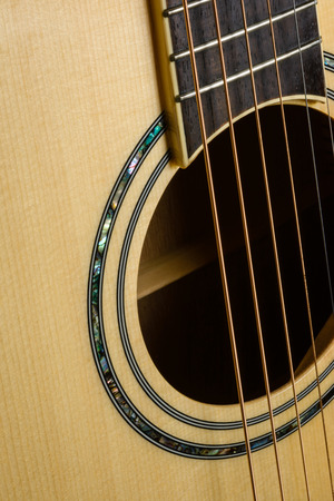 close up old Acoustic Guitar pattern detail photo