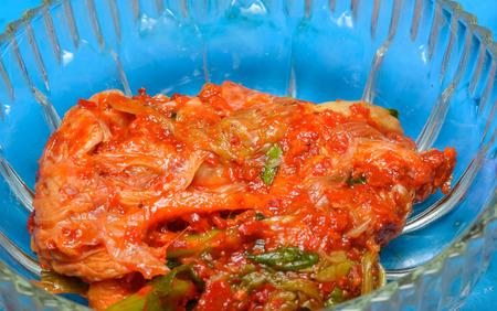 close up food: close up kimchi , korean food in bowl