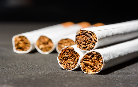 Close up Tobacco Cigarettes marco detail