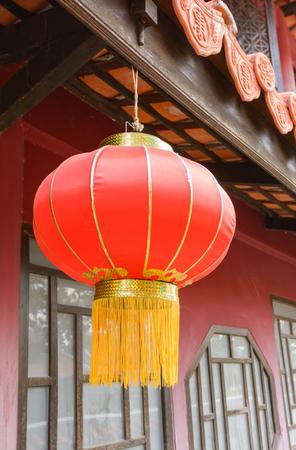 chinese lanterns: Chinese Lanterns lamp hang at roof asia house