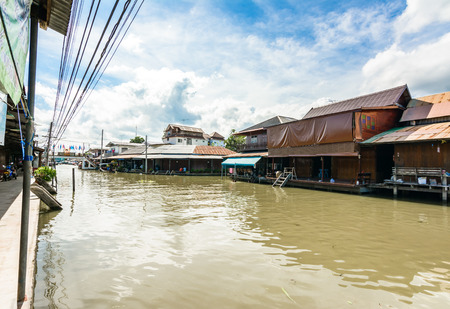 Thai home the traditional at riverside old village in Thailand