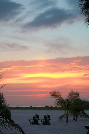 Sunset Ft.Myers Beach Florida June 2010 Stock Photo - 7450381