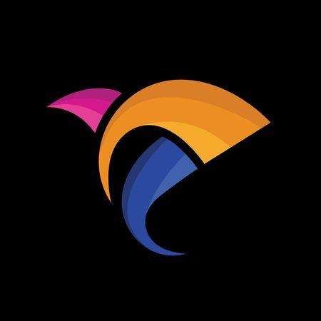 Logo bird color concept for your company
