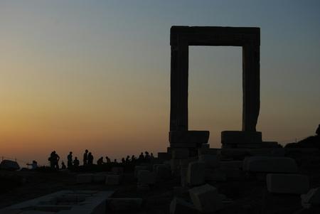 naxos: apolos temple naxos island