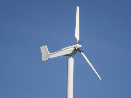 electricity generator: Wind power, power plant to generate electricity, generator, environmental equipment Stock Photo