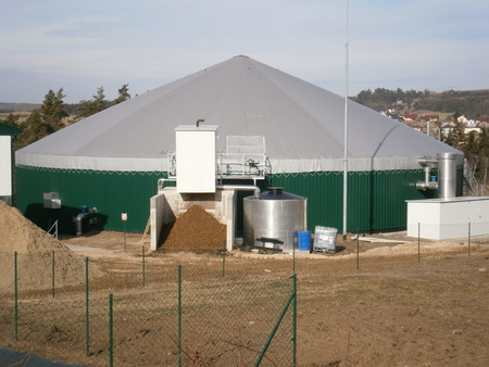 Biogas station, production of electricity from biomass photo