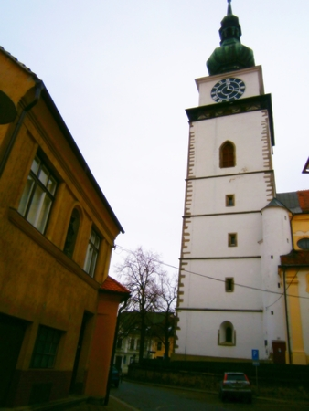 trebic: Church in Trebic, Czech republic, Moravia