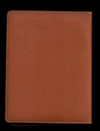 Leather notepad photo