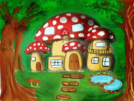 Mushroom house photo