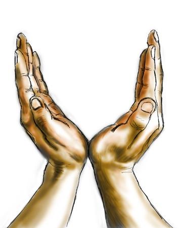 mains ouvertes: mains
