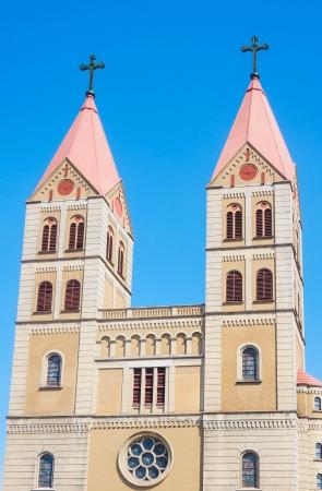 steeple: church building at china qingdao