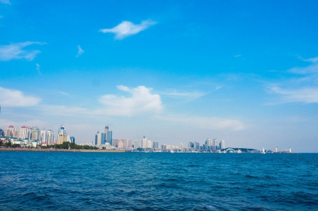seaside city  at china qingdao photo