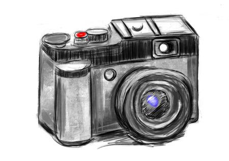 hand draw camera cg paint photo