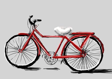 cg: hand draw bicycle cg paint