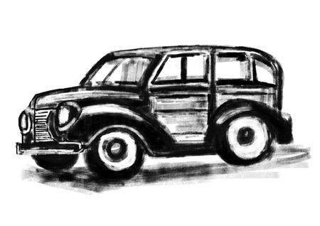 cg: hand draw Classic cars cg paint