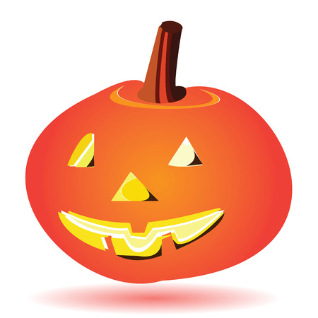 glowing carved: halloween pumpkin lantern design Stock Photo
