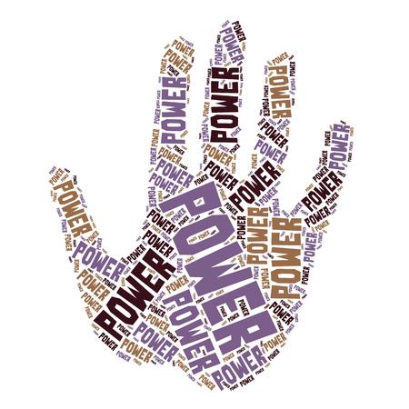 promise: word sharp design  hand palm power