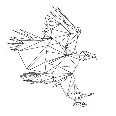 griffon: low poly bird design paint