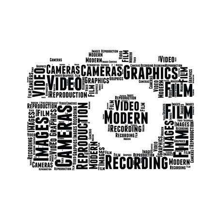 word cloud sharp design camera Stock Photo