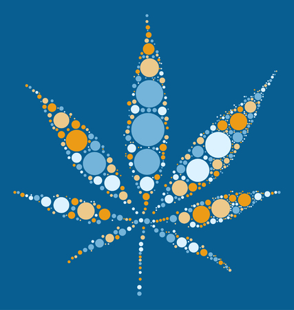 narcotics: Hashish shape vector design by color point
