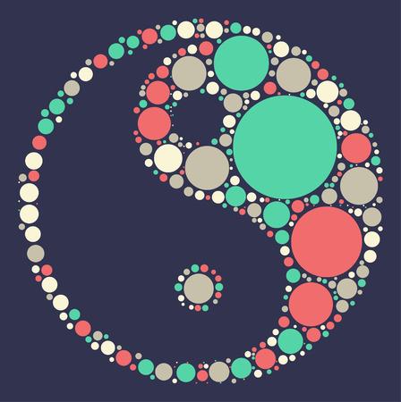 chi: tai chi shape vector design by color point
