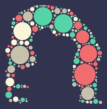 색상 포인트 별 요가 모양 벡터 디자인 일러스트