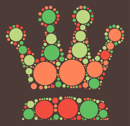 imperial: Imperial crown shape, vector design by color point Illustration
