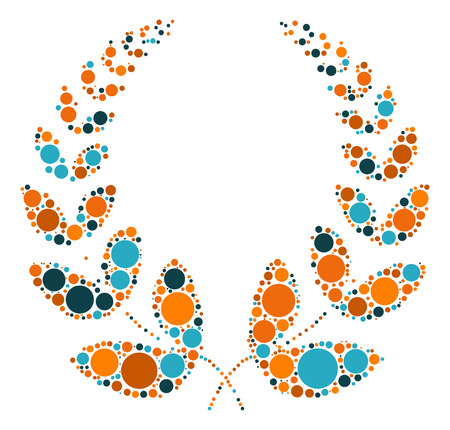 la forma de trigo vector de diseño de punto de color Ilustración de vector