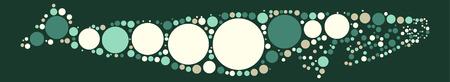 cartoon sperm: whale shape vector design by color point Illustration