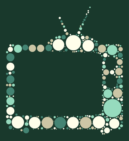home entertainment: tv shape vector design by color point