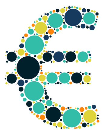 eur: EUR shape vector design by color point