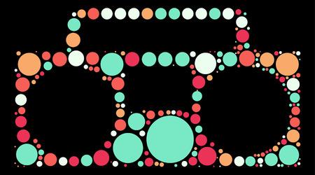 grabadora: grabadora de forma, dise�o del vector de punto de color Vectores