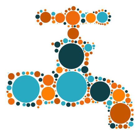 trickle: Faucet shape vector design by color point