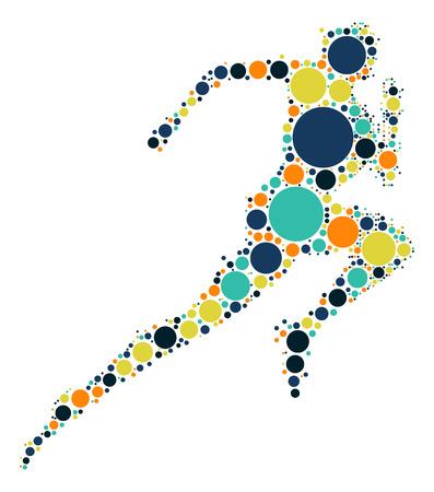Projekt Kształt biegacz po punkcie koloru