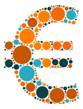 eur: EUR shape design by color point Illustration